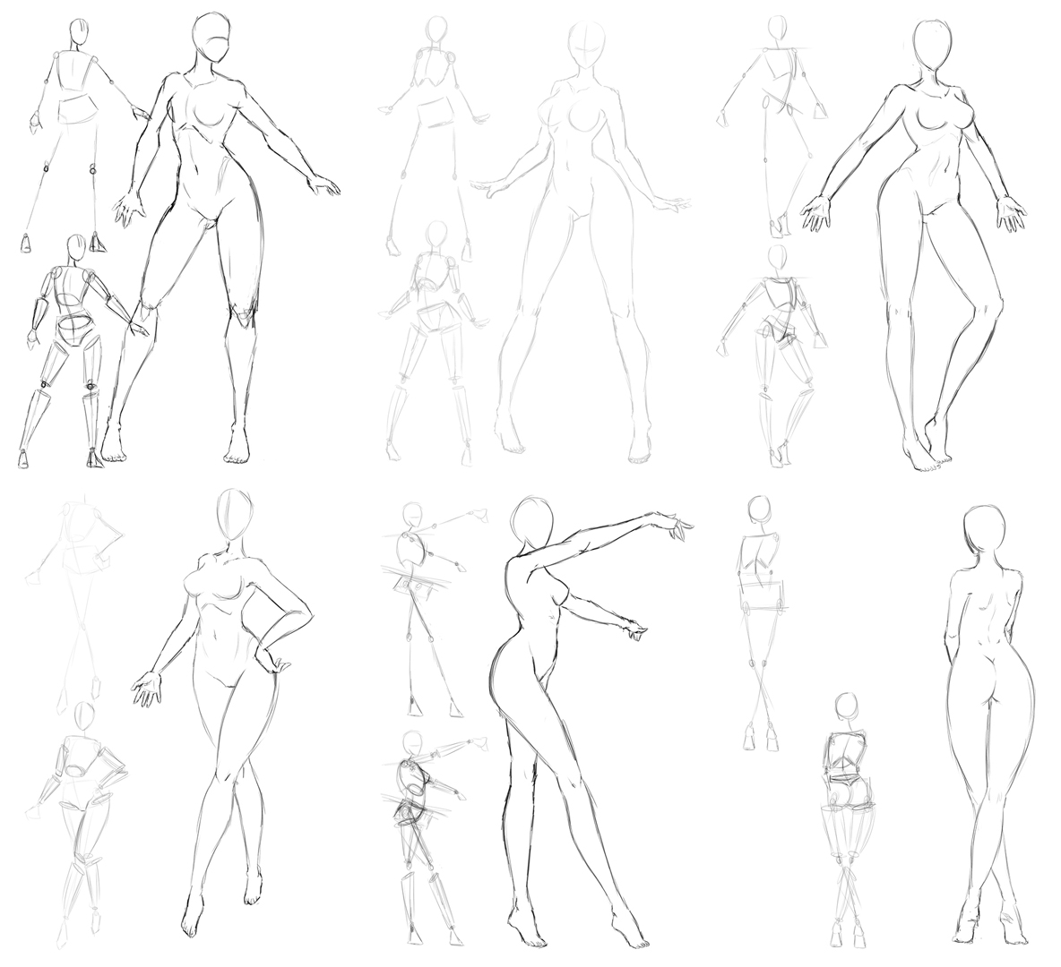 Female Pose drafts